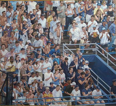 Painting - Crowd Emotion by James Sparks