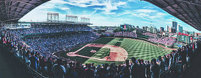 Photograph - Crowd On Their Feet At Wrigley by Pixabay