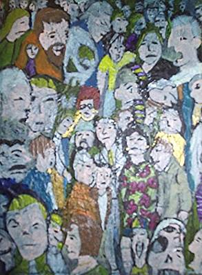 Nameless Painting - Crowd by William Douglas
