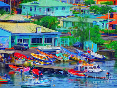 Photograph - Crowded At The Boat Dock by Sue Melvin