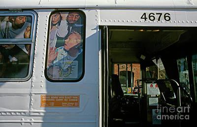Crowded Bus Art Print
