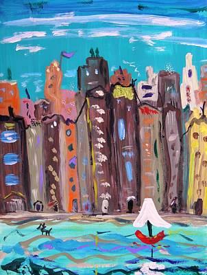 Crowded By The Sea Original by Mary Carol Williams