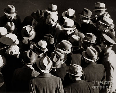Urban Style Clothes Photograph - Crowded Street, C.1930-40s by H. Armstrong Roberts/ClassicStock