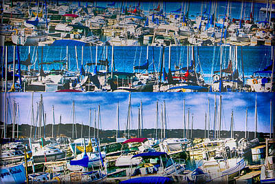 Digital Art - Crowded Yacht Club by Bartz Johnson