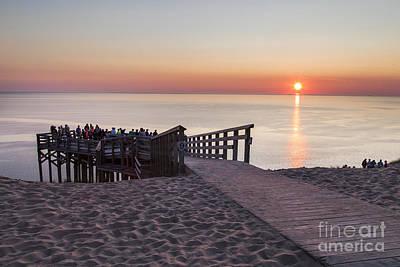 Crowds At Sunset At Sleeping Bear Dunes Art Print