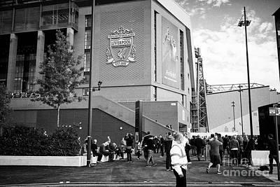crowds at The new main stand at Liverpool FC anfield stadium Liverpool Merseyside UK Art Print by Joe Fox