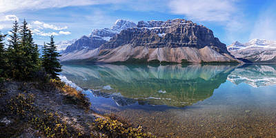 Rocky Mountain Photograph - Crowfoot Reflection by Chad Dutson