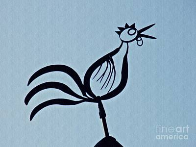 Photograph - Crowing Rooster by Sarah Loft