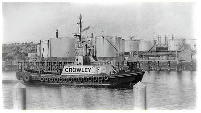 Photograph - Crowley Tug, Port Of Tacoma by Matthew Ahola