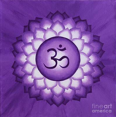Wall Art - Painting - Crown Chakra by Anna Martinsen
