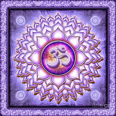 Sahasrara Digital Art - Crown Chakra - Series 1 by Dirk Czarnota