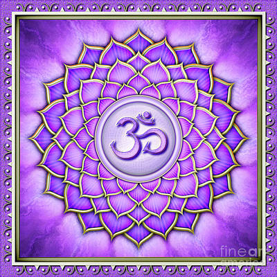 Sahasrara Digital Art - Crown Chakra - Series 2 Artwork 2 by Dirk Czarnota