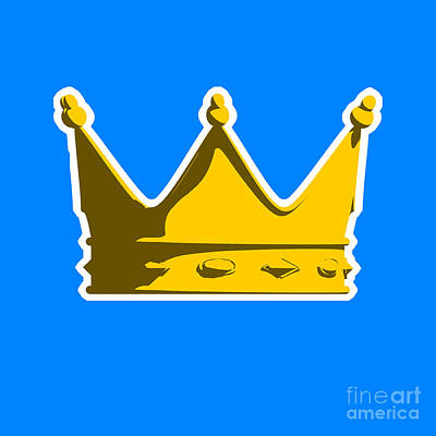Pop Art Royalty-Free and Rights-Managed Images - Crown Graphic Design by Pixel Chimp