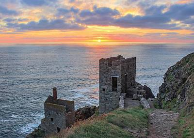 Colourful Wall Art - Photograph - Crown Mines At Botallack  by Claire Whatley