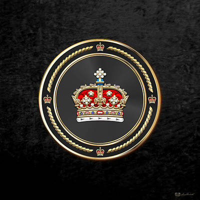 Digital Art - Crown Of Scotland Over Black Velvet by Serge Averbukh