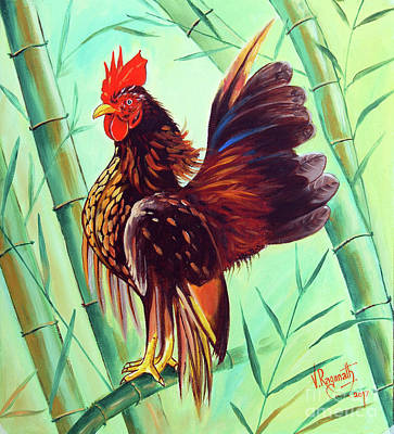 Painting - Crown Of The Serama Chicken by Ragunath Venkatraman