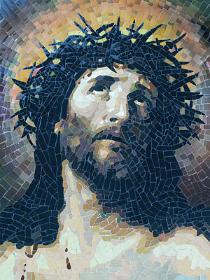 Ciseri Painting - Crown Of Thorns 2 - Ceramic Mosaic Wall Art by Mai Nhon