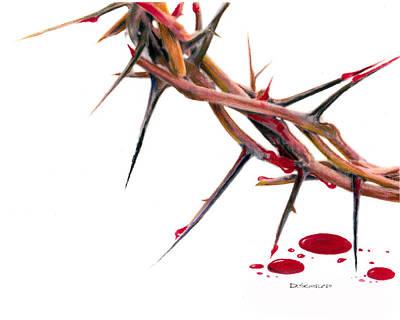 Crown Of Thorns Print by Dennis Schmelzer