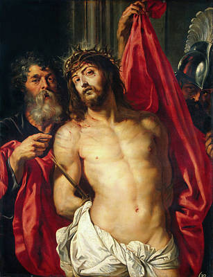 Ecce Homo Painting - Crown Of Thorns, Ecce Homo by Peter Paul Rubens