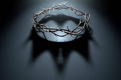 Ambiguous Digital Art - Crown Of Thorns With Royal Shadow by Allan Swart