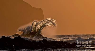 Crest Photograph - Crown Of Waves   Ke'e Beach   Kauai by Debra Banks