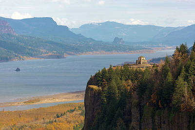 Crown Point On Columbia River Gorge Art Print