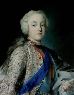 Venetian Art Pastel - Crown Prince Friedrich Christian Of Saxony by Rosalba Carriera