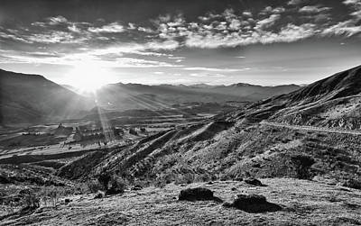 Photograph - Crown Range In Black And White by Amber Kresge