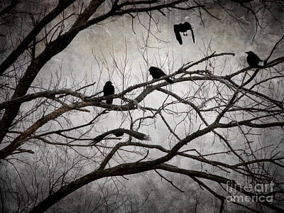 Crows At Midnight Art Print