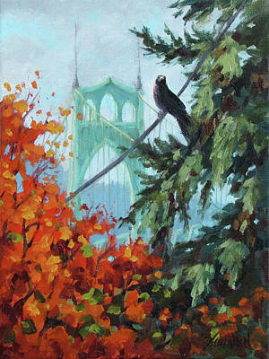 Painting - Crow's Eye View by Karen Ilari