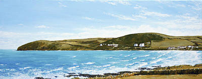 Painting - Croyde Bay And Baggy Point by Mark Woollacott