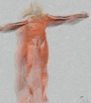 Abstract Digital Art Mixed Media - Crucified Anonymous by Joaquin Abella