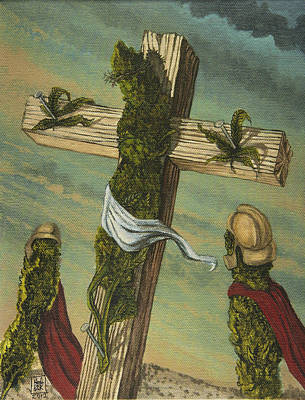 Trippy Painting - Crucified Bud by Michael Nagel