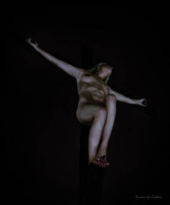 Woman Crucified Photograph - Crucified In The Darkness by Ramon Martinez