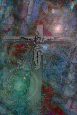 Photograph - Crucifix 1 by Kate Word