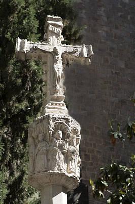 Christ On Cross Photograph - Crucifix - Barcelona Spain by Jon Berghoff