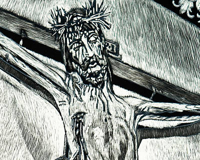 Painting - Crucifix, Coricancha Peru - I Thirst - Lwcpi by Lewis Williams OFS