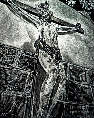Painting - Crucifix, Coricancha, Peru - Lwccp by Lewis Williams OFS