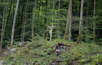 Photograph - Crucifix In The Forest by Michelle Meenawong