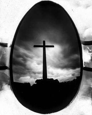 Photograph - Crucifix, Photographed Using A Chocolate Easter Egg by Will Gudgeon