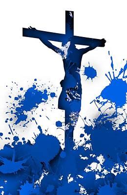 Shadows Digital Art - Crucifixion by Alberto RuiZ