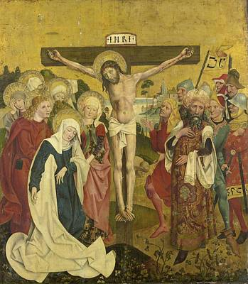 Painting - Crucifixion Christ On A Cross  by R Muirhead Art