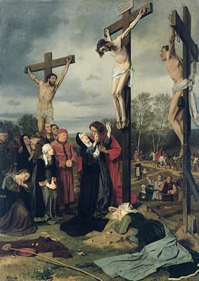 Karl Painting - Crucifixion by Eduard Karl Franz von Gebhardt