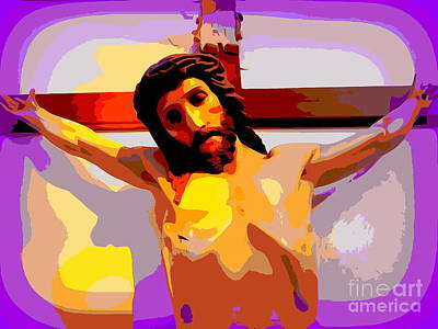 Photograph - Crucifixion In Purple by Ed Weidman