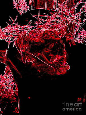 Digital Art - Crucifixion In Red by Ed Weidman