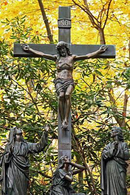 Crucifixion Art Print by Mitch Cat