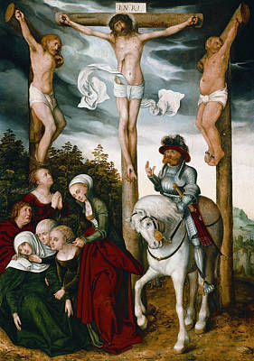 Painting - Crucifixion Of Christ by Lucas Cranach the Elder