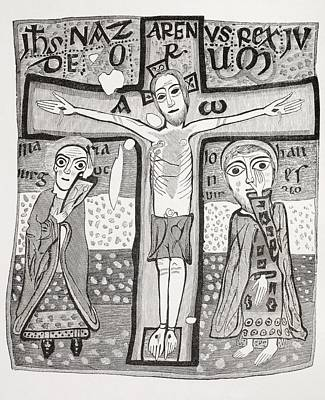 Jesus Drawing - Crucifixion Of Jesus Christ. After A by Vintage Design Pics