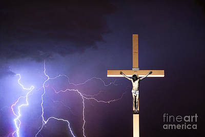 Photograph - Crucifixion Of Jesus  by James BO Insogna