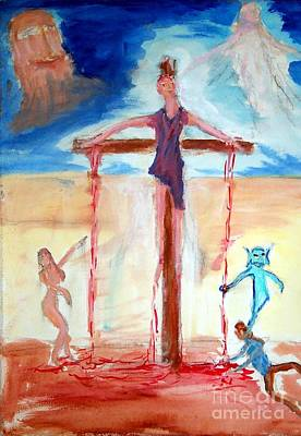 Painting - Crucifixion Of Jesus by Stanley Morganstein